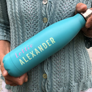 Blue Thermal Water Bottle