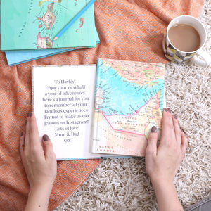 Personalised Map Location Travel Journal Notebook Gift - shop by interest