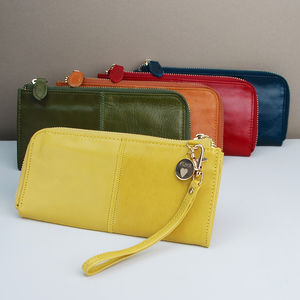 Personalised Leather Zip Purse - purses & wallets