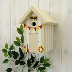 Personalised Beach Hut Bird Box