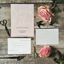 Pink And Grey Wedding Stationery