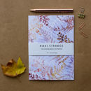 Snowflake Ferns A5 Notebook With Lined Pages