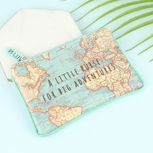 World Map Print Purse - gifts for friends