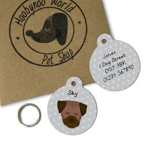 Border Terrier Personalised Dog ID Tag - dogs