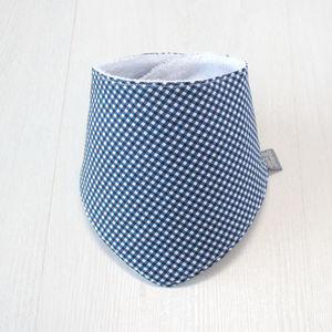 Bamboo Dribble Bib Navy Gingham