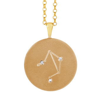 Constellation Necklace With Diamonds Libra Star Sign