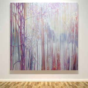 Shimmering Spring Abstract Landscape With Blossom - paintings