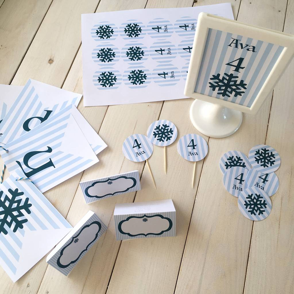 winter wonderland party decoration pack by the humble hostess