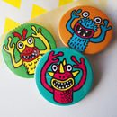 Funny Finger Monster Party Bag Badge Set