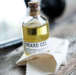 Beard Oil And Face Rag Set - men's grooming & toiletries