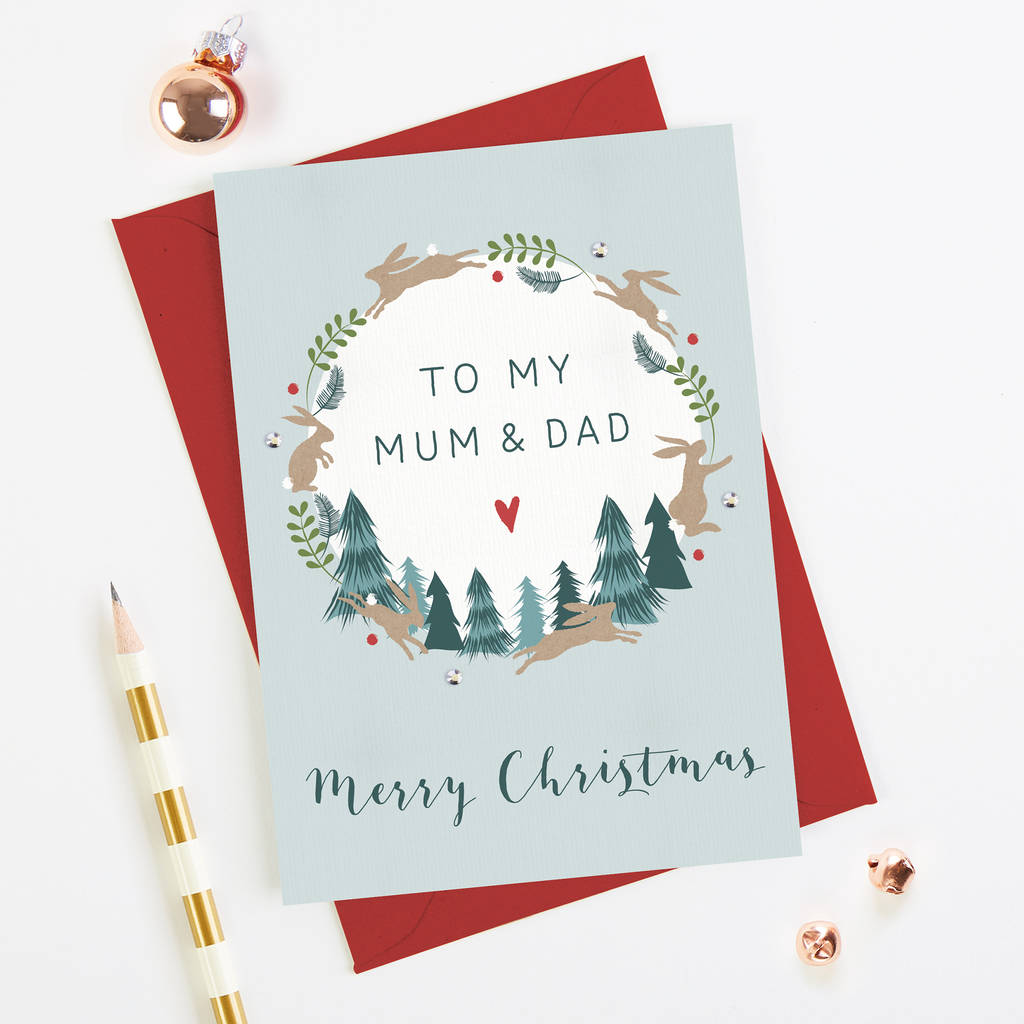 Mum And Dad Christmas Card By Norma&dorothy