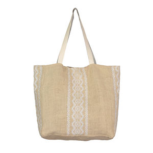 Aspiga Aruba Jute Beach Bag Natural/White