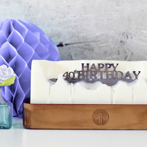'Happy 40th Birthday' Hidden Message Candle - 40th birthday gifts