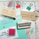 Personalised Custom Business Text Rubber Stamp