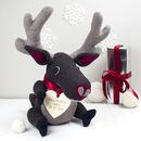 Large And Personalised Soft Toy Reindeer