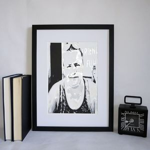 Personalised Fathers Day Portrait Layered Papercut - mixed media & collage