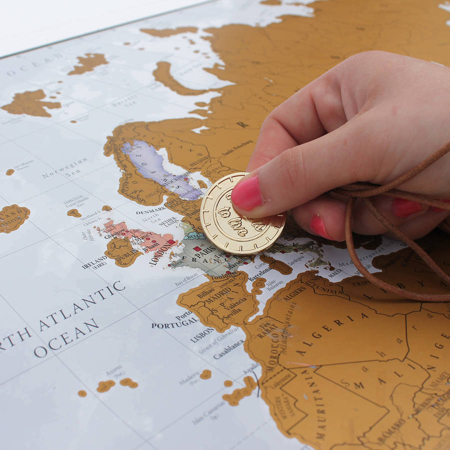 Scratch The World Map Print With Coin By Maps International