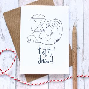 Let It Snow! Winter Sports Christmas Card - cards & wrap
