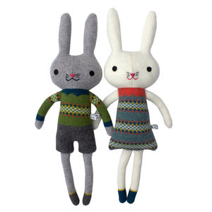 Knitted Lambswool Bunny Rabbit - easter gifts