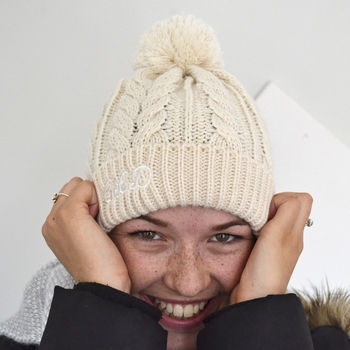Personalised Pom Pom Hat