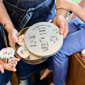 Personalised Family Cake Tin - baking
