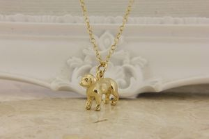 Labrador Pendant In Solid Gold