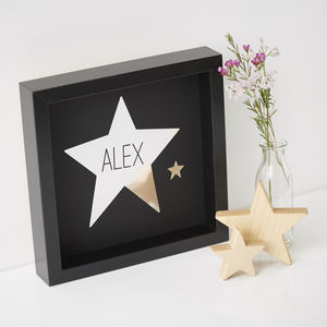 Framed Personalised Star Print - new baby gifts