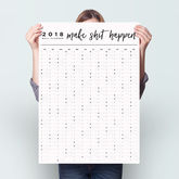 2018 Make Shit Happen Wall Planner - stationery