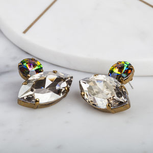 Crystal Statement Stud Earrings