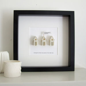 Personalised Paper Houses Anniversary Or New Home Gift