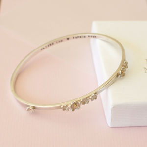 Personalised Flower Bangle