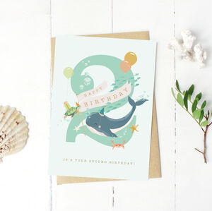 2nd Birthday Under The Sea Card