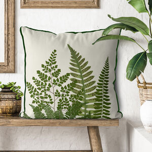 Fern Grove Green Botanical Cushion Collection