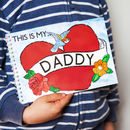 Personalised This Is My Daddy Memory Activity Pack