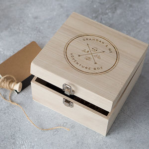 'Grandad And Me' Wooden Adventure Memory Box - shop by recipient