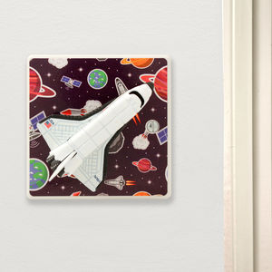 Solar System Space Bedroom Light Switch - children's room