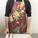 Wine Colour Botanical Kitchen Apron Accessory Gift