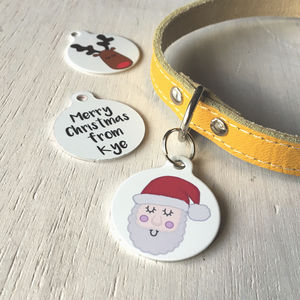 Personalised Christmas Pet Tag - dogs