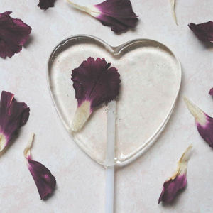 Personalised Individual Gin Edible Flower Lollipops - wedding favours