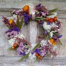 Midsummer Medley Dried Flower Wreath