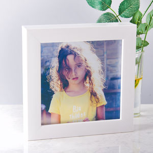 Personalised Transparent Photo Print With Frame - retro living room