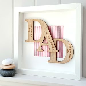 Our Amazing Daddy Personalised Oak Letters