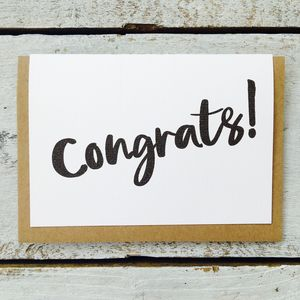'Congrats!' Card - cards sent direct