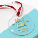 Personalised Foiled Number One Dad Medal