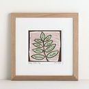 Personalised Woodcut Family Tree Print