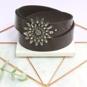 Personalised Ladies UK Made Leather Belt