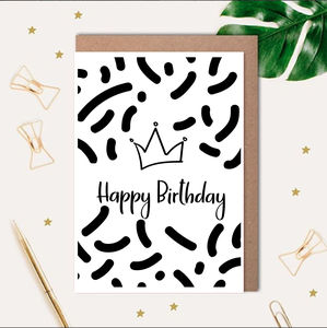 Birthday Queen Printed Card - birthday cards