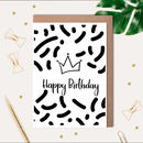 Birthday Queen Printed Card