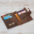 Personalised Handmade Buffalo Leather Credit Card Case
