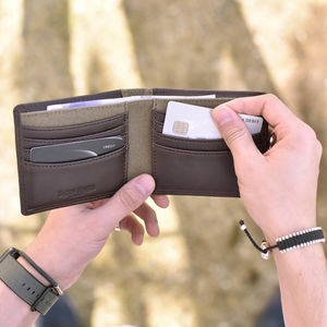 Personalised Leather Wallet - brand new partners